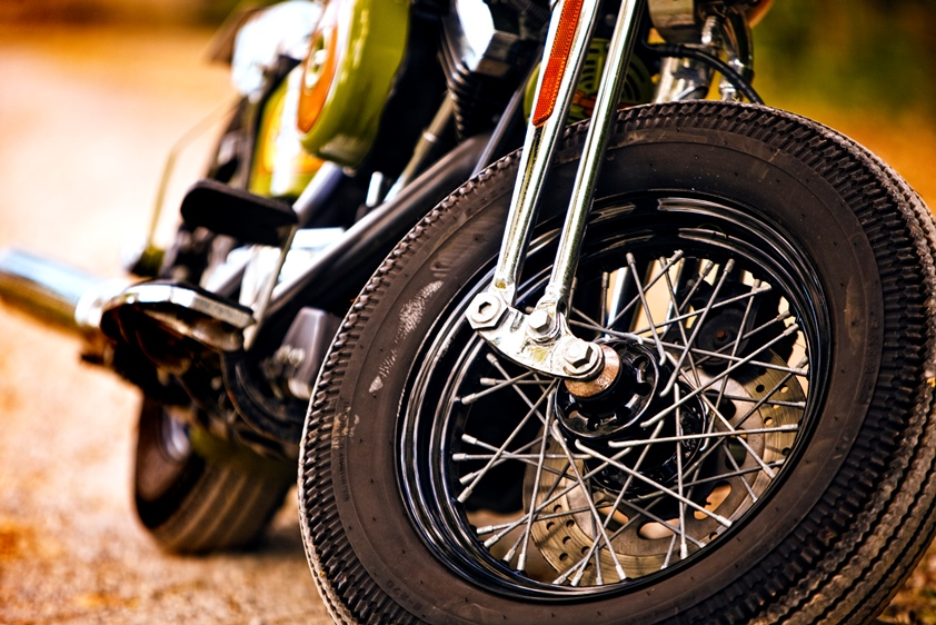 Wheels of a Motorcycle